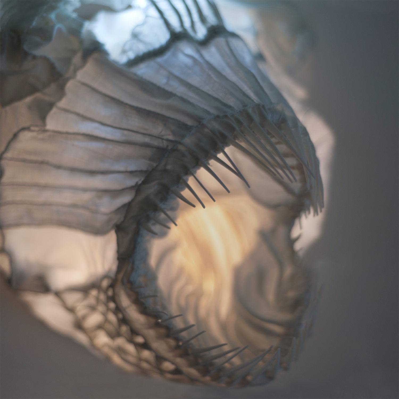 Dračí ryba — designové nástěnné světlo od Spacelights