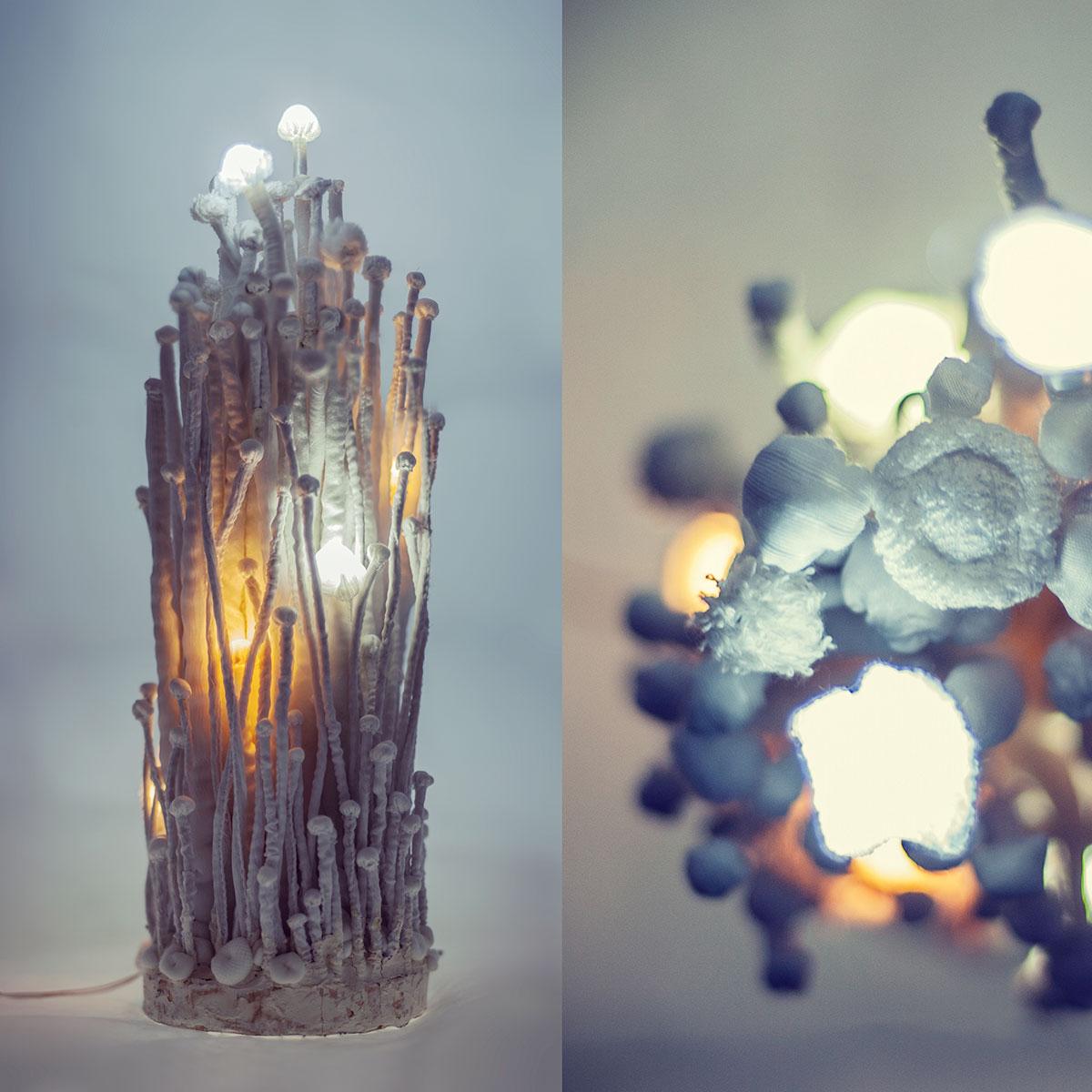 Enoki No. 01 — svítící objekt Evy Spacelights. Nečasové